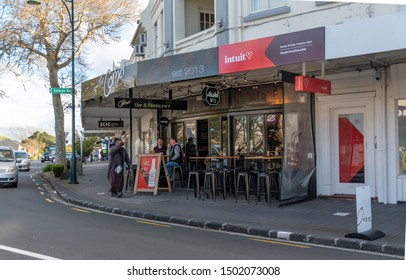 Auckland / New Zealand - September 12 2019: View of The Corner bar and cafe in Howick