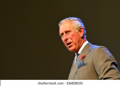 AUCKLAND - NOV 08 2015:Prince of Wales (C) visit in Auckland New Zealand.He is the oldest person to be next-in-line to become king of Great Britain.