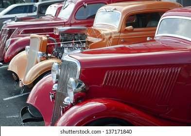 AUCKLAND, NZ - APRIL 25:A 1936 Red Ford Classic Car on April 25 2013 in Auckland, New Zealand.In NZ there are more then 13,000 vintage classic cars in immaculate condition.