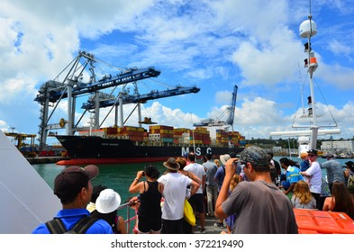 Auckland Container Terminal Images, Stock Photos & Vectors