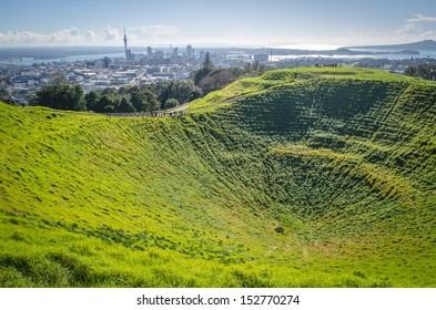 Auckland skyline from Mount Eden