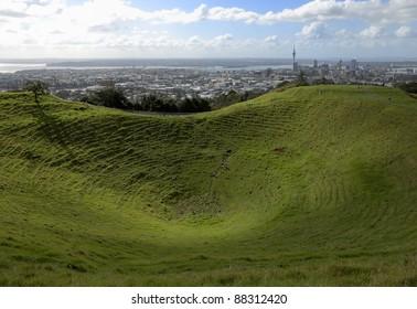 Auckland skyline from Mt Eden