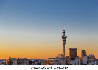 Auckland Sunset Cityscape