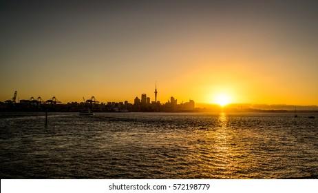 Auckland Sunset taken from Devonport