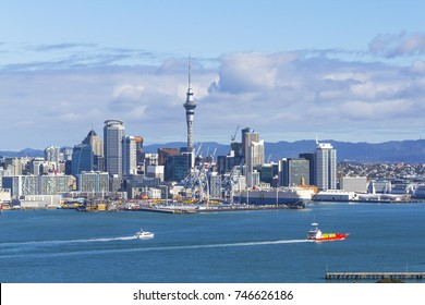 Auckland View from Mt Victoria Devonport Auckland New Zealand