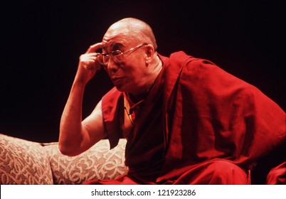 AUCKLAND-APRIL 10:14th Dalai Lama of Tibet is giving a speech in Auckland New Zealand in April 10 2003.He has lived in exile in India since the Chinese Army crushed an uprising in his homeland in 1959