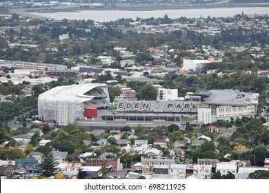 Auckland,New Zealand  -April 29,2016: Eden Park from top view.Eden Park is New Zealand's largest stadium