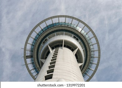 AUCKLAND/NEW ZEALAND-FEB 2, 2009: Observation deck Sky Tower in Auckland
