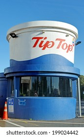 AUCKLAND,NZ - MAY 25 2014Tip Top Ice cream factory entrance in Auckland NZL.Tip Top produces around 50 million litres of ice cream a year, and Fonterra Brands (Tip Top) Ltd has around 400 employees.