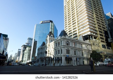 AUCKLAND,NZ - MAY 29:Auckland downtown on May 29 2013.It's the largest and most populous urban area in NZ and It has 1,397,300 residents, which is 32 percent of the country's population.