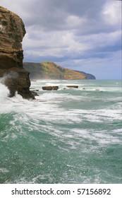 Auckland's wild west coast at Murawai, near the gannet colony