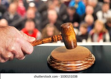 auction  bid sale judgment mallet gavel