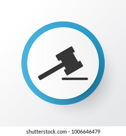 Auction icon symbol. Premium quality isolated gavel element in trendy style.