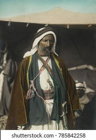 Auda Abu Tayeh, Bedouin chief of Howeitat tribe, fought in the WW1 Arab Revolt. T.E. Lawrence described him as the greatest fighting man in northern Arabia. He was portrayed by Anthony Quinn in the 19