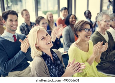 Audience Applaud Clapping Appreciation Training Concept