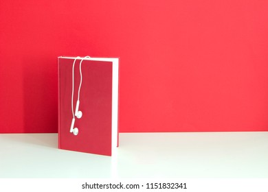 audio book, with copy-space