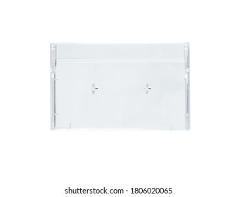 Audio cassette box on a white background. Isolated