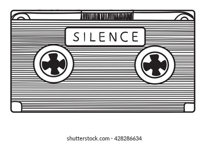 Audio cassette with silence