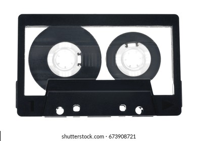 Audio cassette (tape) isolated on white background