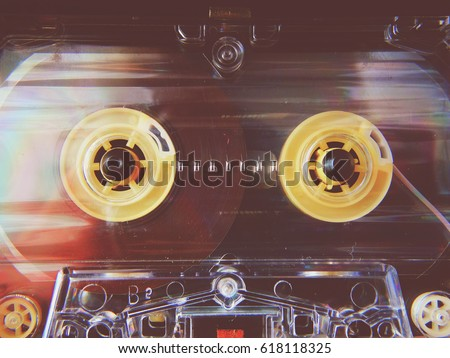 Photo De Stock De Audio Cassettes Recorder 80 S 90 S 70 S Modifier