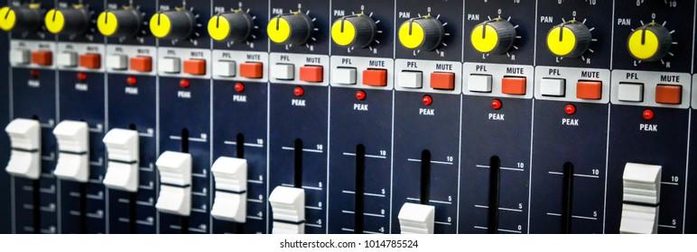 Audio control panel.