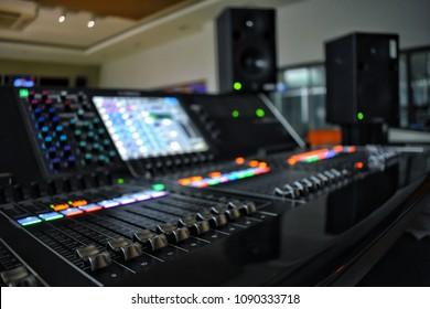 Audio controls in media control room