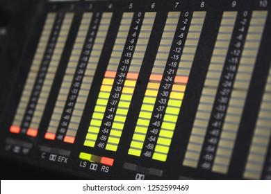 audio decibel level indicator panel