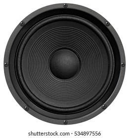Audio equipment, speaker on white background