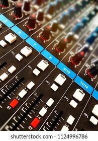 Audio mixer knobs and sliders