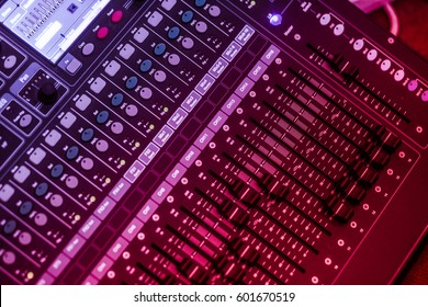 """audio, a mixing console is an electronic device for combining (also called """"mixing""""), routing, and changing the volume level, timbre (tone color)"""