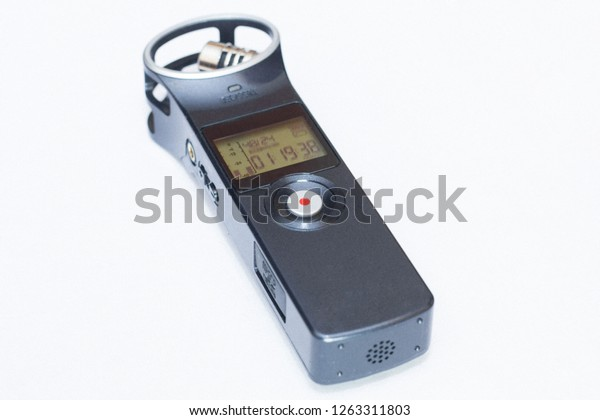 Audio Recorder Zoom H1 Closeup Sound Stock Photo Edit Now 1263311803