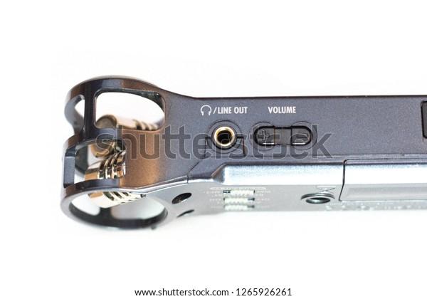 Audio Recorder Zoom H1 Closeup Sound Stock Photo Edit Now 1265926261