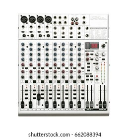Audio sound mixer console isolated.