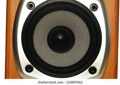 Audio speaker closeup
