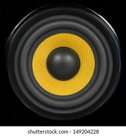 Audio Speaker Cone Detail Background Photo (can be used for seamless pattern)