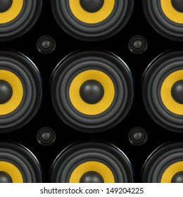 Audio Speaker Cone Detail Seamless Pattern Photo