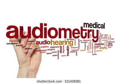 Audiometry word cloud concept