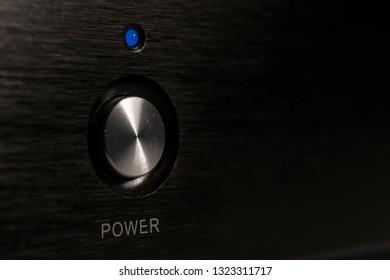audiophile amplifier power button