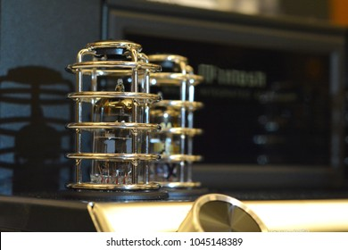 Audiophile audio electronic vacuum tube amplifier.