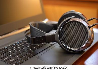 Audiophile Headphones with Laptop PC