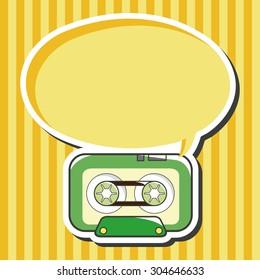 Audiotape, cartoon speech icon