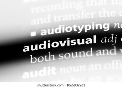 audiovisual word in a dictionary. audiovisual concept.