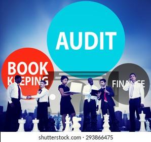 Audit Bookkeeping Finance Money Report Concept