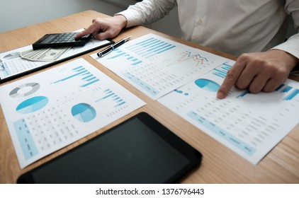 Auditor or internal revenue service staff, Business women checking annual financial statements of company. Audit Concept.