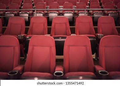 Auditorium. Empty cinema. Mock up.