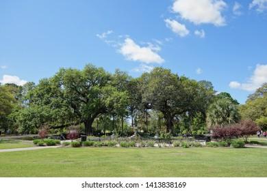 Audubon Park in New Orleans, a popular public city park