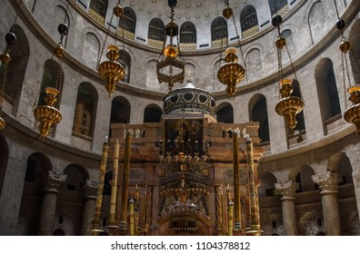 Aug 10, 2017 - Aedicula where, according to Christian religious tradition, the body of Jesus was buried. The Church of the Holy Sepulchre, the greatest Christian shrine in Jerusalem, Israel