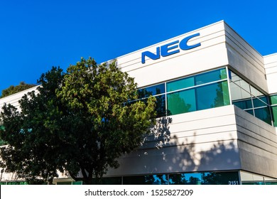 Aug 17, 2019 Santa Clara / CA / USA - NEC headquarters in Silicon Valley; NEC Corporation is a Japanese multinational information technology and electronics company providing IT and network solutions