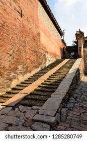 Aug 2013 - Zhangbi Cun, China - One of the streets of the village of Zhangbi Cun, near Pingyao, famous for its underground fortress which is the oldest and longest network of tunnels of all of China
