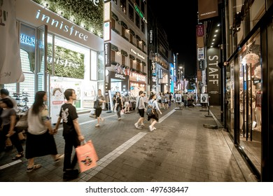 Aug 30, 2015 - Myeong-dong , Seoul : Close view of Myeong-dong shopping street in Seoul, Korea